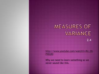 Measures of Variance