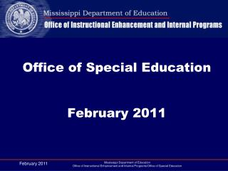 Office of Special Education February 2011