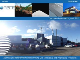 Corporate Presentation,  April 2013