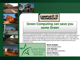 Green Computing can save you some Green