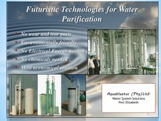 Futuristic Technologies for Water Purification