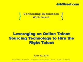 Leveraging on Online Talent Sourcing Technology to Hire the Right Talent