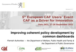 Improving coherent policy development by common dashboards