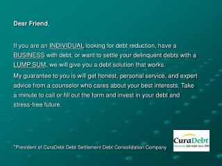 curadedebt settlement, debt negotiation