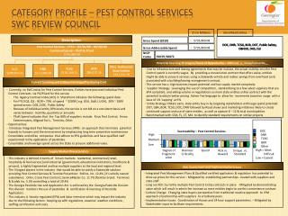 Category Profile – pest control services  SWC Review Council