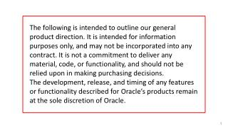 Oracle Training Materials – Usage  Agreement