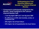 antihypertensive trial  outcome differences: diuretic vs. calcium channel blocker