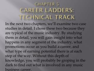 Chapter 5  Career Ladders: Technical Track