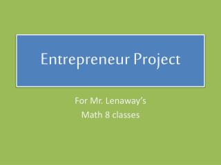Entrepreneur Project