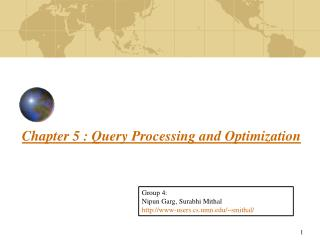 Chapter 5 : Query Processing and Optimization