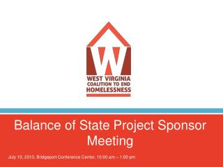 Balance of State Project Sponsor Meeting
