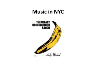 Music in NYC