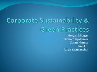 Corporate Sustainability & Green Practices