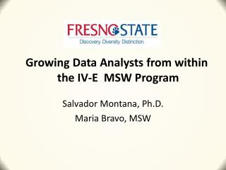 Growing  Data Analysts from  within the  IV-E   MSW Program