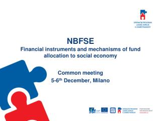 NBFSE Financial instruments and mechanisms of fund allocation to social economy
