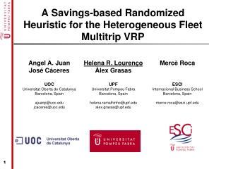 A Savings-based Randomized Heuristic for the Heterogeneous Fleet  Multitrip  VRP