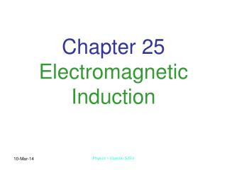 chapter 25 electromagnetic induction