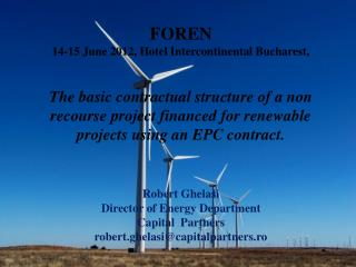 FOREN 14-15 June 2012, Hotel Intercontinental Bucharest,