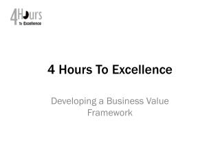 4 Hours To Excellence