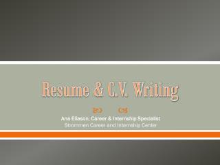 Resume & C.V. Writing