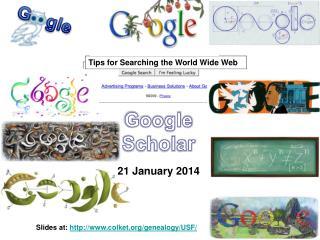 Google Scholar 21 January 2014