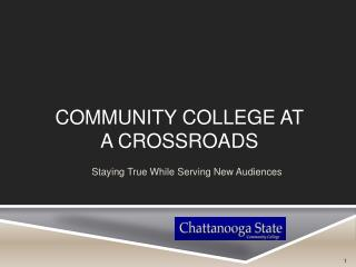 Community College at  a Crossroads