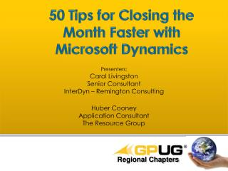 50 Tips for Closing the Month Faster with Microsoft Dynamics