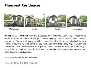 Pinecrest  Residences