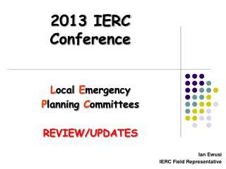 2013 IERC Conference