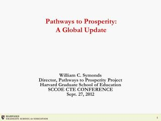 Pathways  to  Prosperity: A Global Update