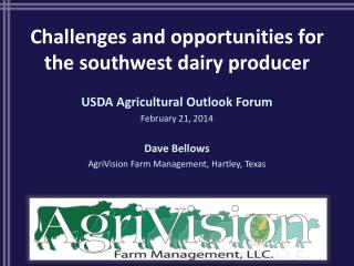 Challenges and opportunities for the southwest dairy producer