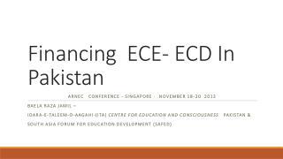 Financing  ECE- ECD In Pakistan