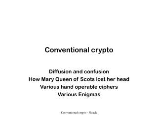 conventional crypto