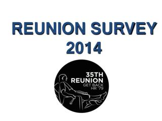 REUNION SURVEY 2014