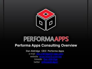 Performa Apps Consulting Overview