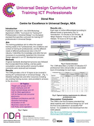Universal Design Curriculum for  Training ICT Professionals