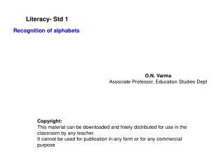 literacy- std 1