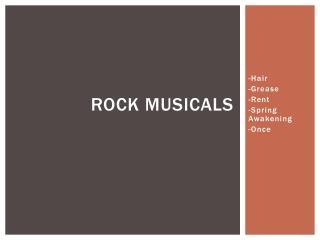 ROCK MUSICALS