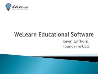 WeLearn Educational Software