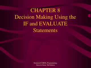 chapter 8 decision making using the if and evaluate statements
