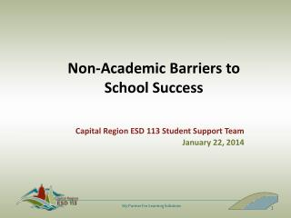 Non-Academic Barriers to School Success