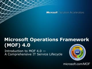 Microsoft Operations Framework (MOF) 4.0