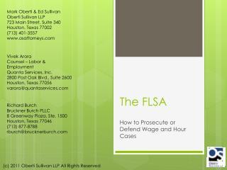 The FLSA