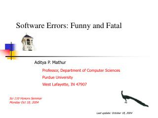 Errors: Funny and Fatal