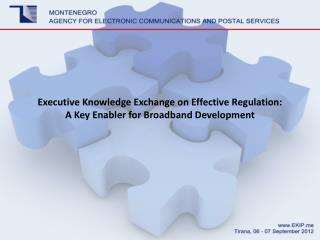 Executive  Knowledge Exchange on Effective Regulation:  A  Key Enabler for Broadband Development