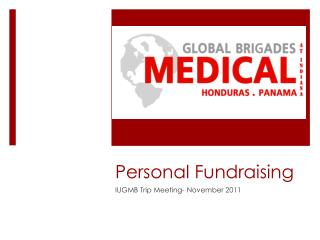 Personal Fundraising