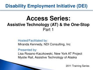 Disability Employment Initiative (DEI)