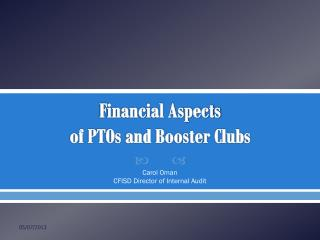 Financial Aspects of PTOs and Booster Clubs