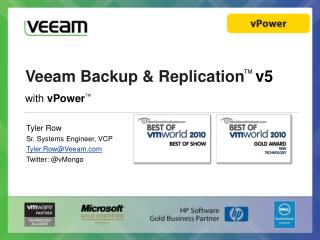 Veeam Backup & Replicatio n ™ v5