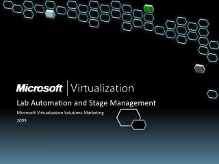 Lab Automation and Stage Management Microsoft Virtualization Solutions Marketing 2009